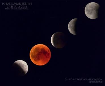 Затемнување на Месечината во живо од Охрид