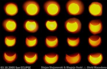 3 Октовмри 2005 год. Затемнување на Сонце