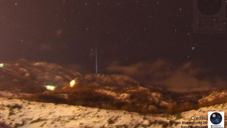 Метеорски дожд Гемиди – 13 Декември 2012