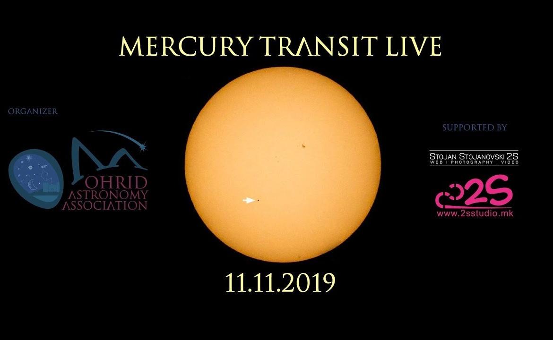 Тразнит на Меркур –  Пренос во живо