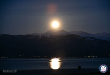 Изгрев на Полна Месечина над Пелистер