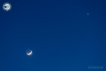 Вечерва Венера и Месечина со блиска средба (фото)