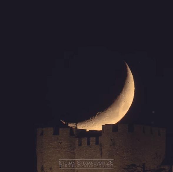 (ВИДЕО) Залез на Месечината и Самоилова Тврдина