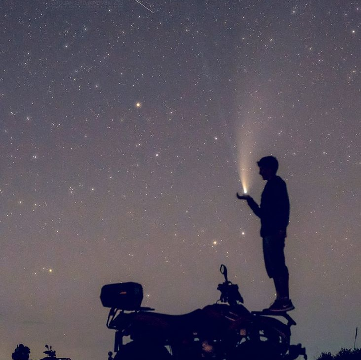 Кометата Neowise, вистинска атракција за туристите и љубителите на Астрономијата во Охридскиот регион
